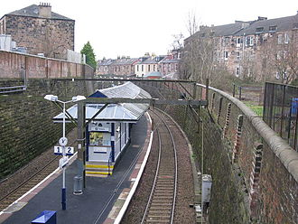Crosshill railway station - Image: Crosshill railway station in 2008