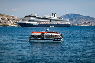 Sarandë - Holland America Eurodam ship in Sarandë