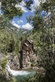 Crystal Mill, an 1892 wooden powerhouse located on an outcrop above the Crystal River in what remains of an old mining town, Crystal, high in the Rocky Mountains in Gunnison County, Colorado LCCN2015633763.tif