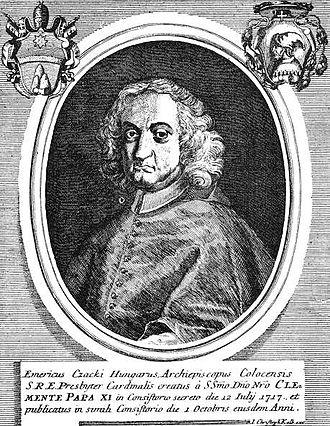 Imre Csáky (cardinal) - Image: Csáky Imre