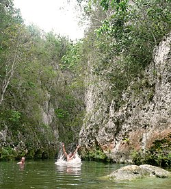 Cuba Swimming at Campismo Boqueron National Natural Reserve.jpg