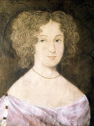 Frances Culpeper Berkeley - Portrait of Frances Culpeper Stephens Berkeley Ludwell by an unknown artist, c. 1660