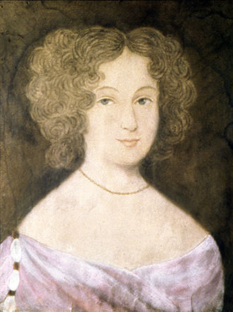 Frances Culpeper Berkeley - Portrait of Frances Culpeper Stephens Berkeley Ludwell by an unknown artist, c. 1660