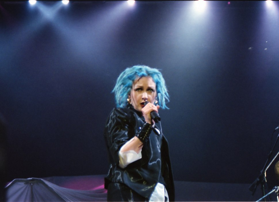 Cyndi blue hair 2000
