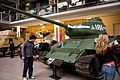 Czechoslovak-produced T-34-85 tank at the Imperial War Museum London 12.jpg