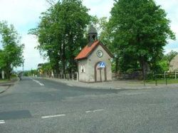 Gliwice Czechowice - Kaplica �w. Jana Nepomucena z oko�o 1900 roku.