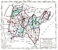 Département de l'Ain divisé en 9 districts et 61 cantons, Atlas national de France, 1792.jpg