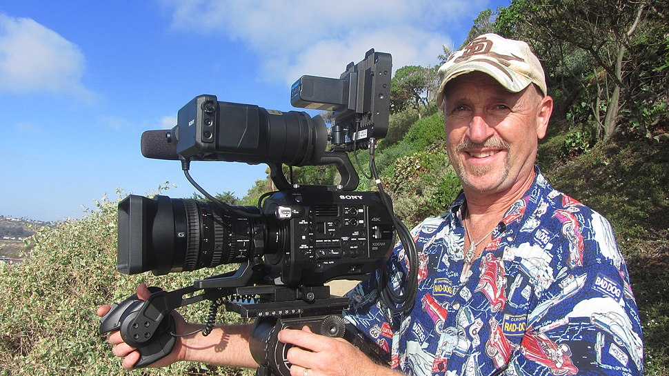 DP Mark Schulze with Sony FS7 camera and Convergent Design Odyssey 7Q%2B recorder monitor