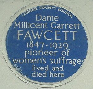 Fawcett Society - Image: Dame Millicent Garrett Fawcett (3518505684)