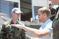 Damien Duff and his brother Sergeant Gerry Duff visit the troops of the Irish 106 Battalion in Tibnine Lebanon (7514469726).jpg
