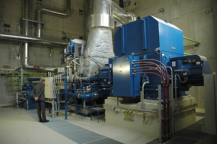 A direct-drive 5 MW steam turbine fueled with biomass - Steam turbine