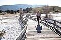 Dan Wenk on the Mammoth Hot Springs boardwalks (30060577358).jpg