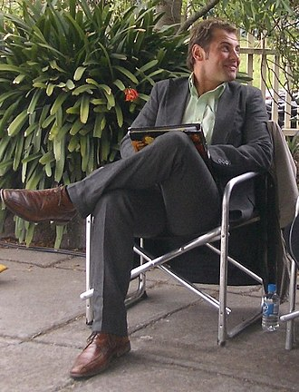 Daniel MacPherson - MacPherson on the set of City Homicide in 2008