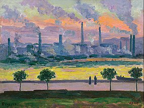 Darío de Regoyos - Blast Furnaces in Bilbao - Google Art Project.jpg