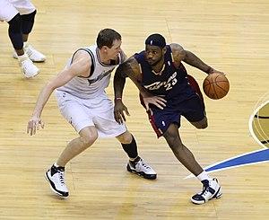 Darius Songaila - Songaila defending LeBron James