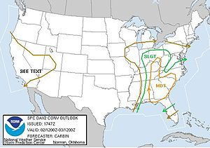 Tornado outbreak of January 2, 2006 - Outlook on January 2, 2006
