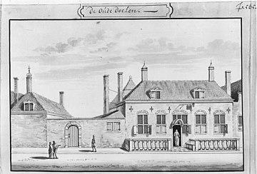 De oude Doelen, door A.Rademaker tekening in bezit van Gemeente Archief. - Delft - 20049246 - RCE