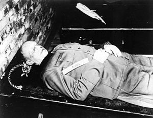 Alfred Jodl - The body of Jodl after death, 16 October 1946