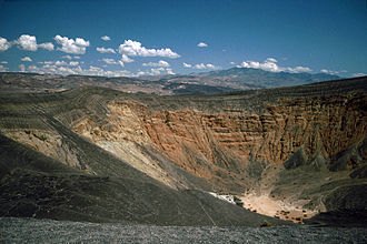 Places of interest in the Death Valley area - Ubehebe Crater, a maar volcano.