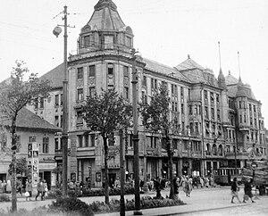 Debrecen, Arany Bika Szálloda. Fortepan 6230