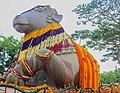Decorated Idol of Nandi at Chamundi hills.jpg