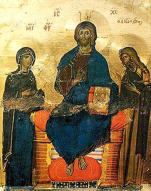Deesis - Icon of the Deesis St. Catherine's Monastery Sinai, 12th century)