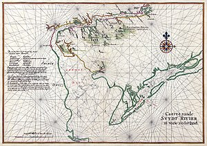 Charter of Freedoms and Exemptions - Nautical chart of Zwaanendael, 1639