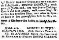 Delen uit rouwadvertentie Douwe Egberts door zijn weduwe Lysbeth Mintjes.jpg