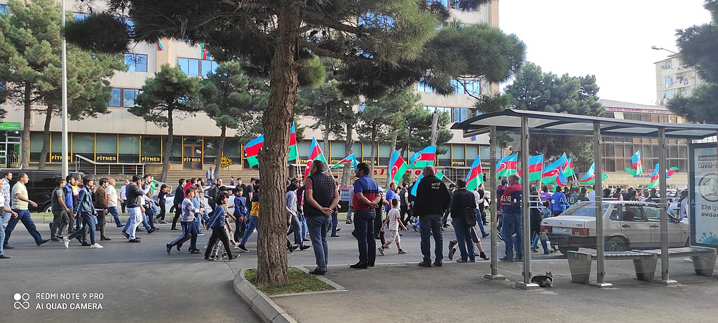 Demonstartion in Baku to support National Army of Azerbaijan in the war with Armenia