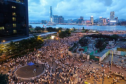 Demonstration in Legislative Council Road 20190609