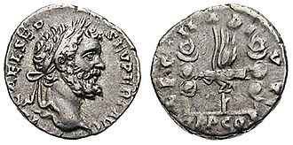 Legio II Adiutrix - II Adiutrix supported Septimius Severus, commander of the Pannonian army, in his fight for the purple. This denarius was struck to celebrate the legion.