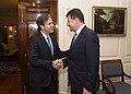 Deputy Secretary Blinken Greets Slovak Deputy Prime Minister and Foreign Minister Lajcak Before Their Meeting in Washington (23517504640).jpg