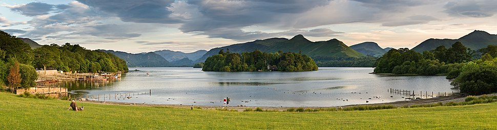 Derwent Water, one of 21 large water bodies in the Lake District