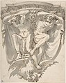 Design for a Decorated Console with Two Slaves on Top of an Eagle MET DP807987.jpg