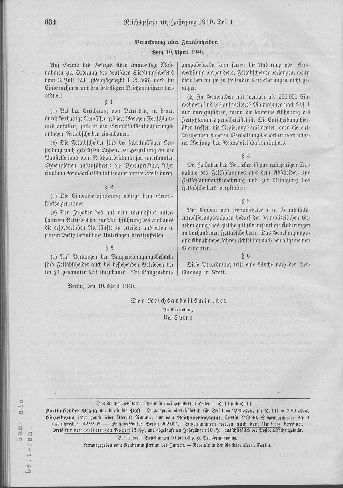 Fettabscheider Wikipedia
