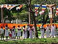 Devotees outside Ruvanvelisaya Dagoba - Anuradhapura - Sri Lanka (14171486553).jpg