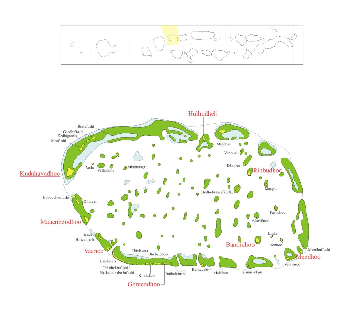 Karte des Atolls
