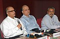 Digambar Kamat addressing at the 'IFFI-2009 Curtain Raiser Press Conference' alongwith the Director, Directorate of Film Festivals, Shri S.M. Khan and the Addl. DG(M&C), PIB, Shri D.N. Mohanty, in Panaji, Goa.jpg