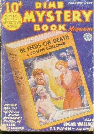 Pulp magazine - Cover of the pulp magazine Dime Mystery Book Magazine, January 1933