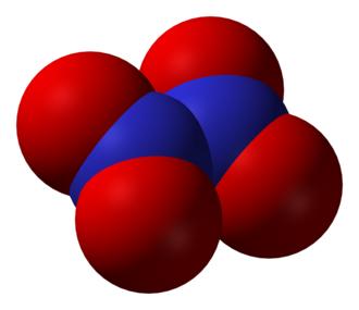 Dinitrogen tetroxide - Image: Dinitrogen tetroxide 3D vd W