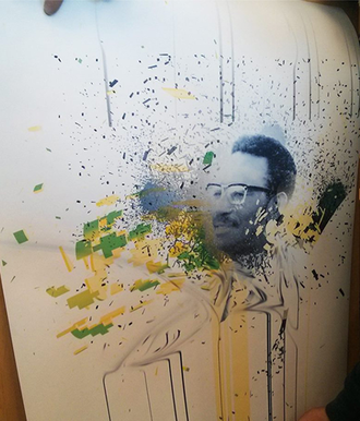 Cheikh Anta Diop - Diop Rebirth by Ade Olufeko, showcased at Harvard in 2014