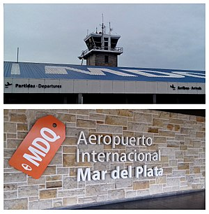 Astor Piazzolla International Airport - Image: Diptico Aeropuerto Mar Del Plata