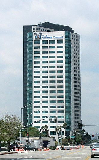 Disney Channel - Disney Channel's headquarters in Burbank, California as it appeared in the 2000s (the logo was later removed instead of being replaced with the 2002-era logo).