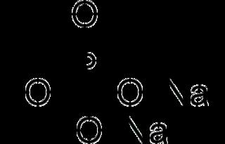 Disodium phosphate chemical compound Na2HPO4