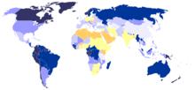 Disponibilité en eau douce dans le monde (2000)
