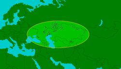 Distribución de E.sibiricum durante el Pleistoceno medio y superior