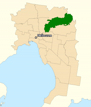 Division of Jagajaga - Division of Jagajaga in Victoria, as of the 2016 federal election.