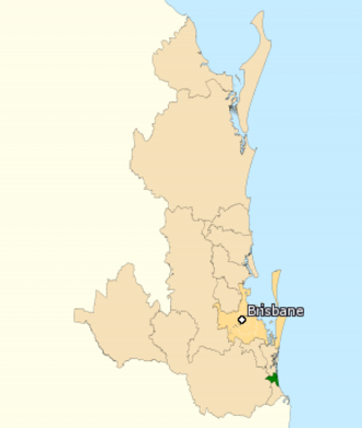 Division of Moncrieff - Division of Moncrieff in Queensland, as of the 2016 federal election.