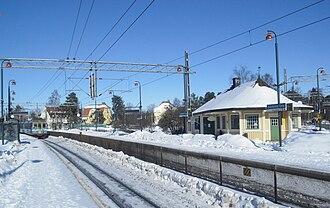 Djursholms Ösby - Djursholms Ösby in March 2010, showing the old station building