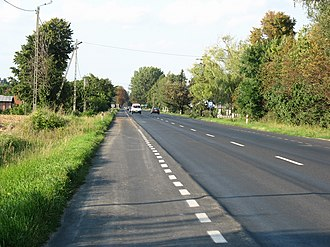 National road 9 (Poland) - The National Road 9 in Okalina.